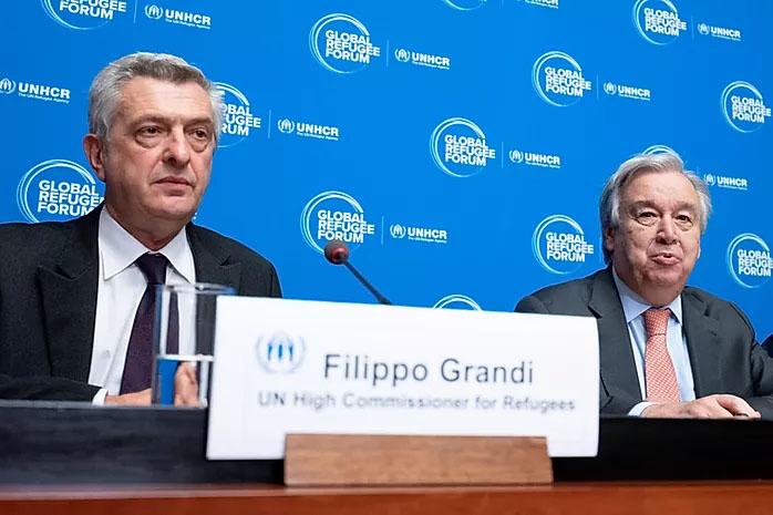 UN High Commissioner for Refugees during Global Refugees Forum on December 17th, 2019